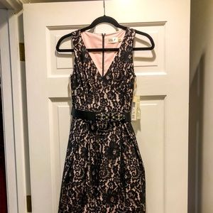 Eliza J Black Lace High Low Dress